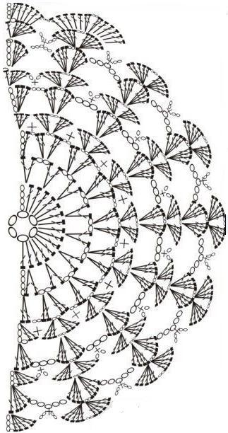 схема маленькой салфетки крючком