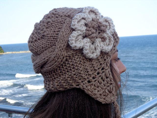 модные вязаные шапки зима