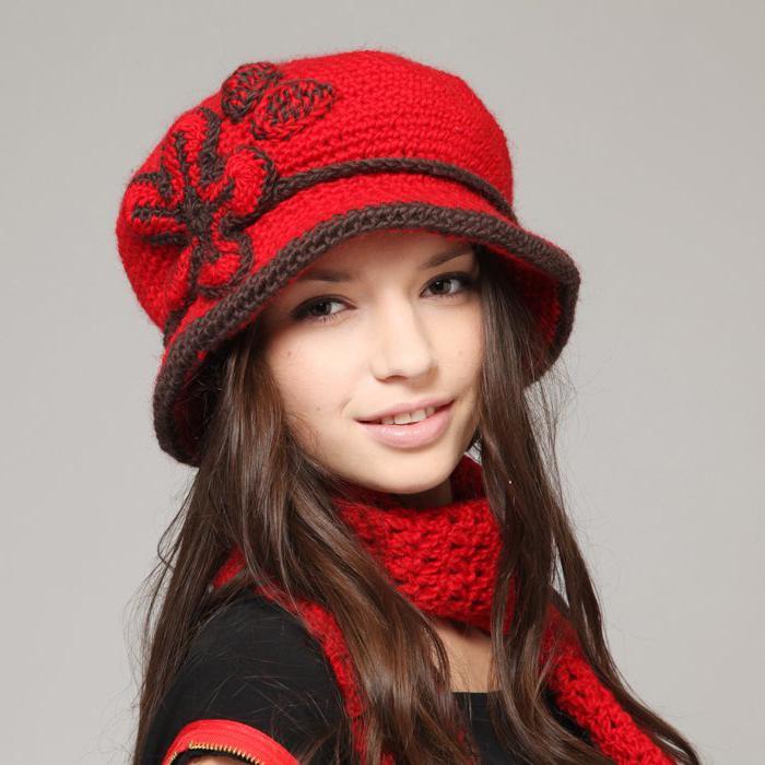 схемы модных шапок.