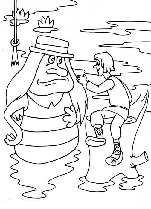 как нарисовать водяного карандашом