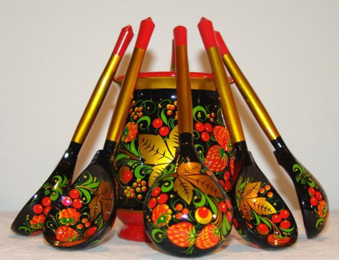 орнаменты и рисунки на посуде