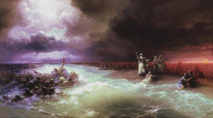 сочинение-описание по картине айвазовского и репина прощание пушкина с морем