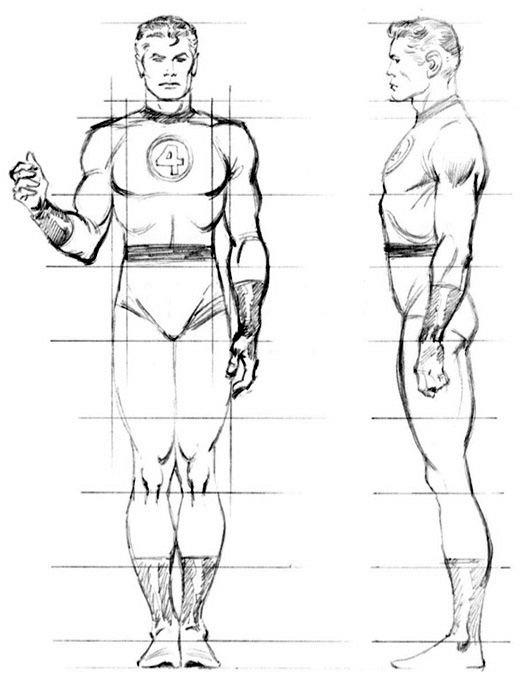 как нарисовать персонажей комиксов