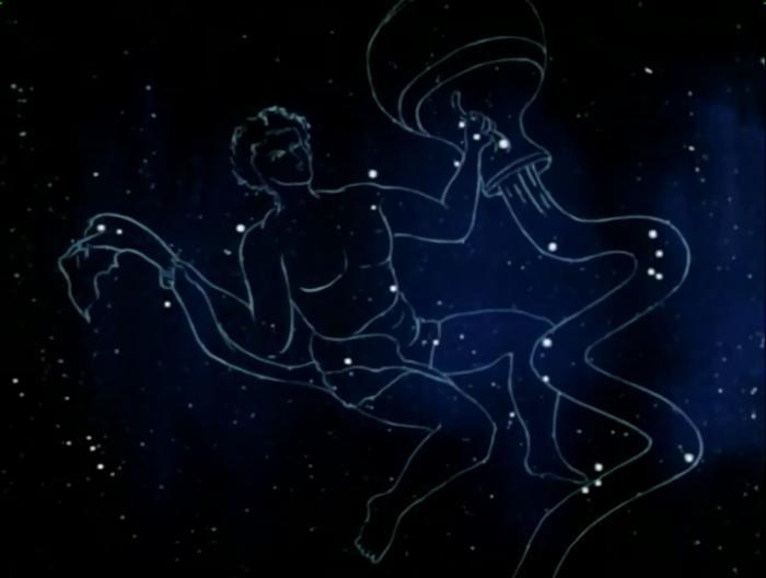 Звездное небо рисунок созвездия водолей, бабушка