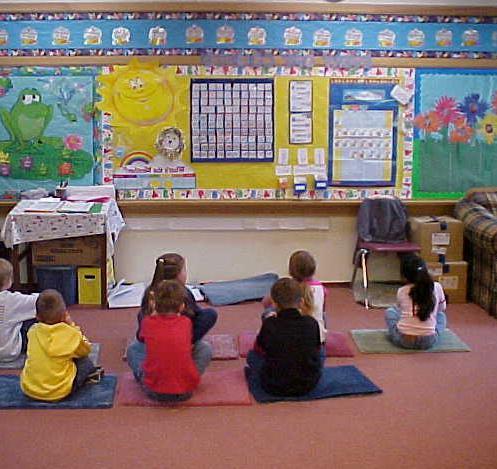 Уголок группы в детском саду