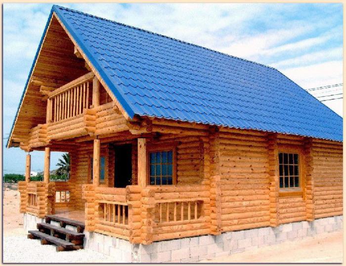 одноэтажные дачные дома из бруса