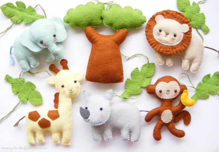 Выкройка животных из фетра. Оригинальные идеи создания игрушек