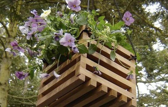 деревянные кашпо для цветов