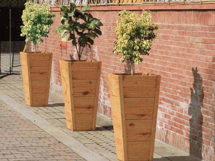 деревянные кашпо