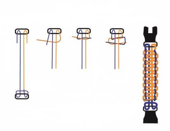 как сделать браслет из веревки своими руками