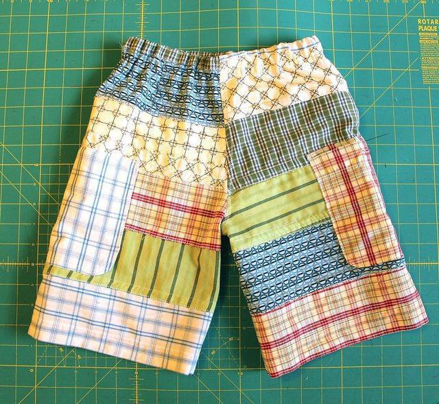 Подробное описание пошива и выкройка детских шорт для мальчика