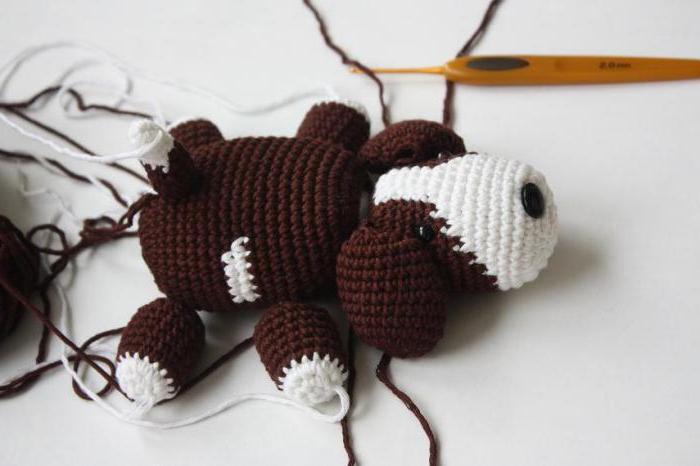 игрушки амигуруми собака