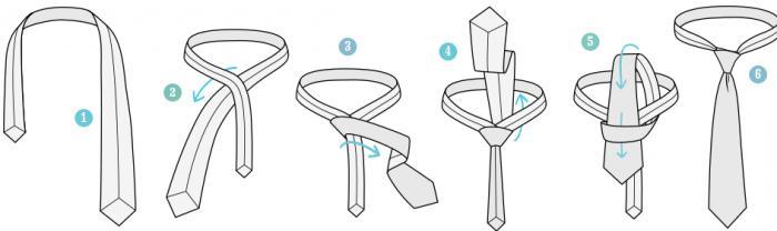 как завязывать галстук легкий способ