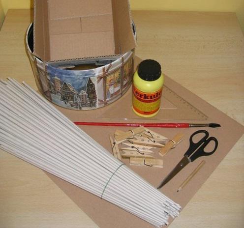 плетение коробок из газетных трубочек
