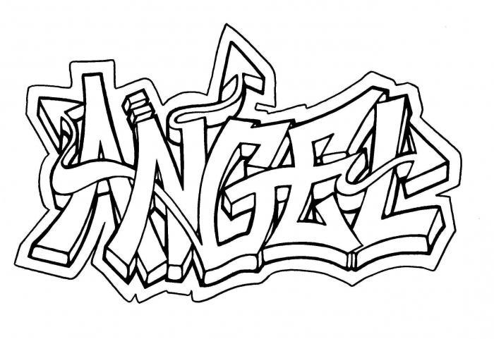 граффити поэтапно карандашом