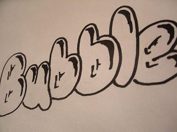 граффити для новичков на бумаге