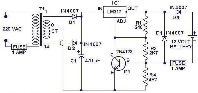 схема зарядного устройства шуруповерта бош