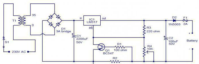 схема зарядного устройства шуруповерта skil