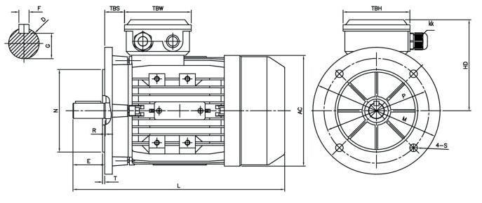 трехфазовым вентильным электродвигателем