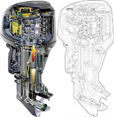 лодочный мотор из триммера чертежи