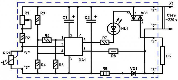 схема терморегулятора для инкубатора золушка