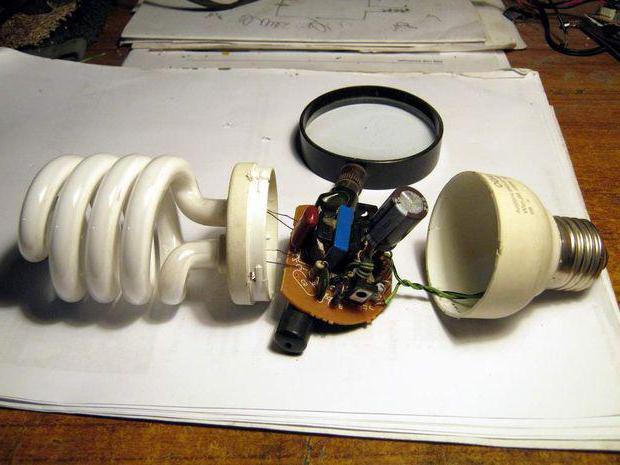 ремонт энергосберегающих ламп со сгоревшей спиралью