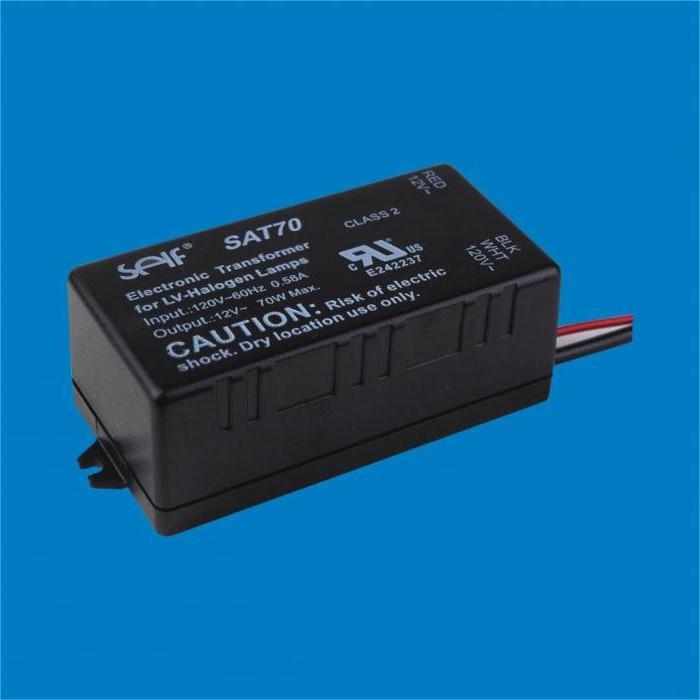 Электронный трансформатор схема подключения 532