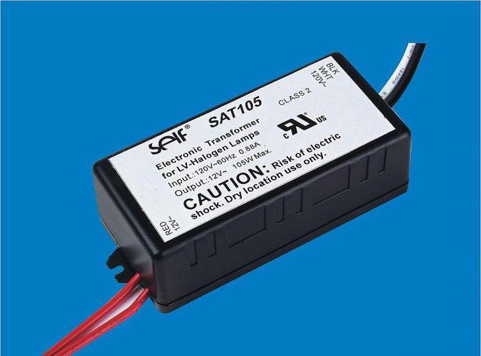 Электронный трансформатор схема подключения 795