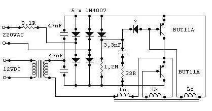 Электронный трансформатор схема подключения 667