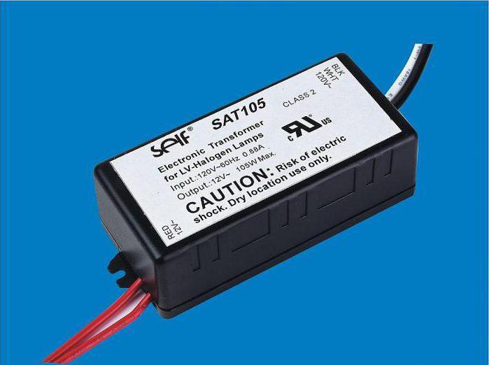 Трансформатор для галогенных ламп 12 вольт схема