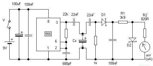 измеритель емкости конденсаторов своими руками расчет