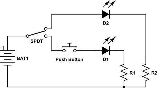 схема подключения проходного выключателя с 2х мест на две лампы