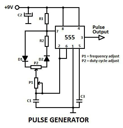 схема генератора импульсов