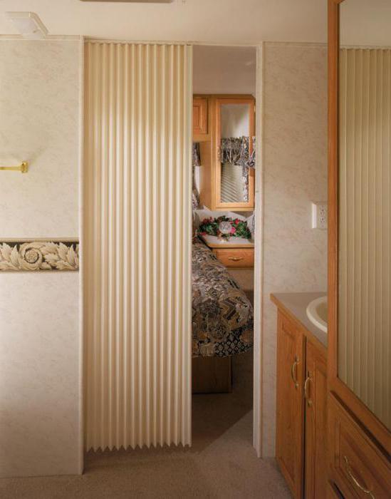 межкомнатные перегородки гармошка квартиры