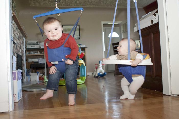 Когда сажать ребенка в прыгунок 170