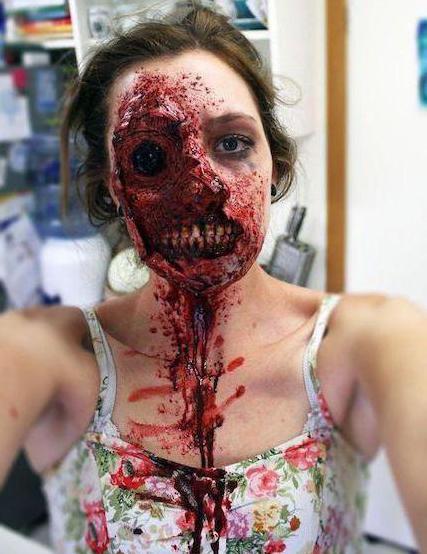 зомби грим в домашних условиях