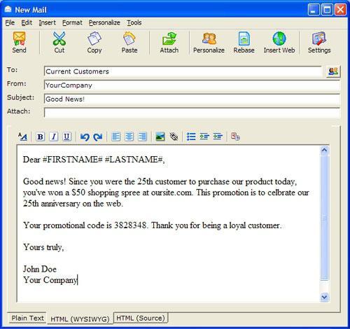 подпись в электронном письме outlook