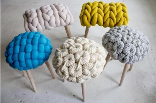 вязанная мебель - уникально и стильно