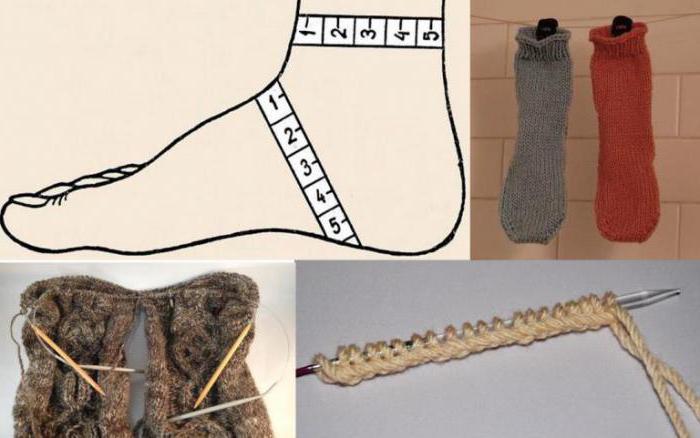 носки на 2 спицах без швов