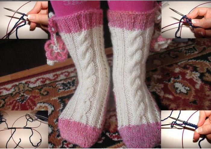 носки на 2 спицах без шва для начинающих