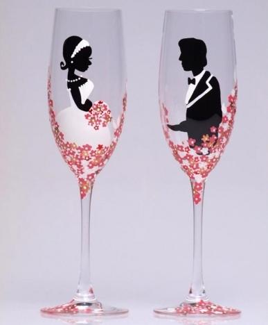 Как сделать свадебные бокалы своими руками - несколько различных способов