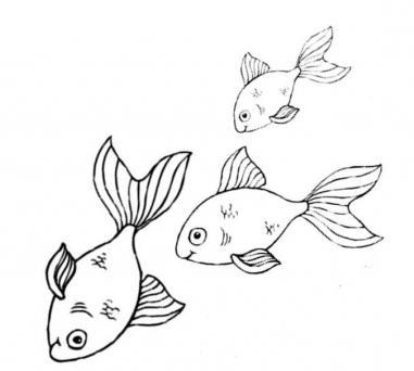 как нарисовать рыбок