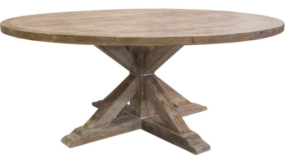 One-leg round table