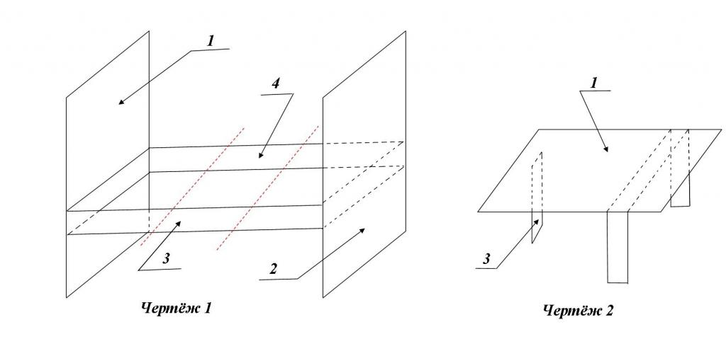 Drawings for making tables from the bed