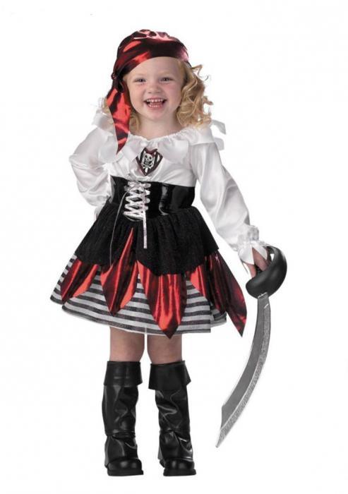 Костюм пиратки для девочки своими руками фото