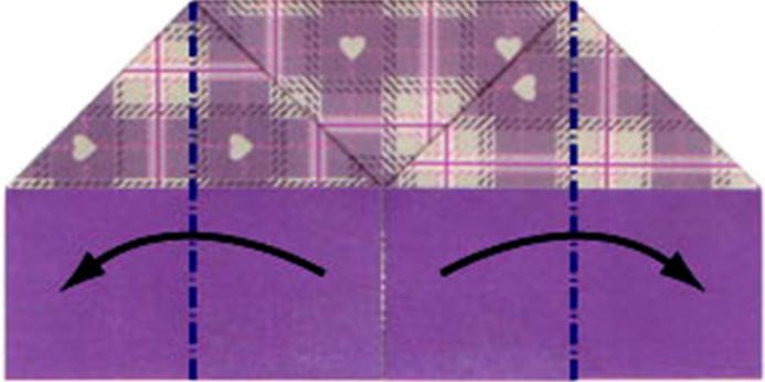 сквош-складки в изготовлении кошелька из бумаги