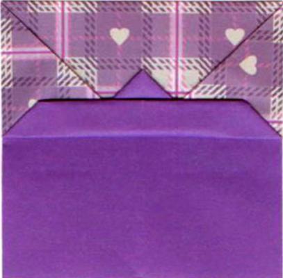 значок переворота заготовки в технике оригами