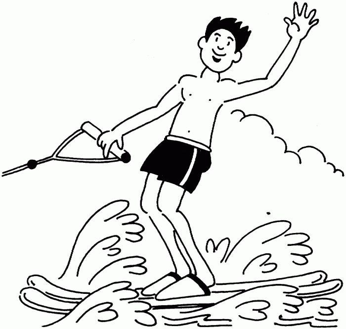 мастер класс рисования лыжника на воде