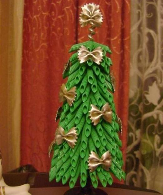 как сделать елку из макарон