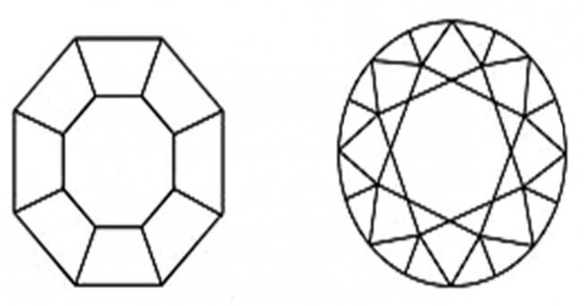 как нарисовать алмаз карандашом